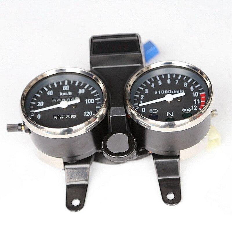 Envío Gratis, moto rcycle GN125, velocímetro, medidor, medidor, moto tacho, reloj para Suzuki 125cc GN 125, partes indicadoras de medidor de velocidad