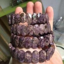 الطبيعي charoite ستون الخرز سوار سوار من الأحجار الكريمة الطبيعية DIY مجوهرات سوار للمرأة هدية بالجملة!