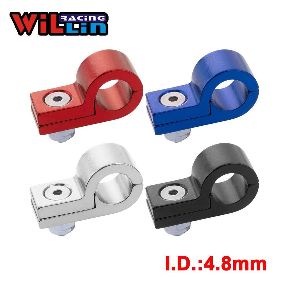 WILLIN - Billet Aluminum Line P Clamps To Suit I.D.4.8MM 3/16 Tubing Line WLJN02-D5 Gold/Purple/Red/Blue/Silver/Black