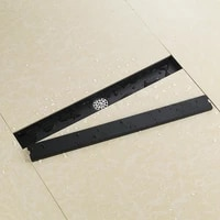 black 60cm 23 62 inch odor resistant floor drain cover rectangle stainless steel shower floor grate drain linear floor drain