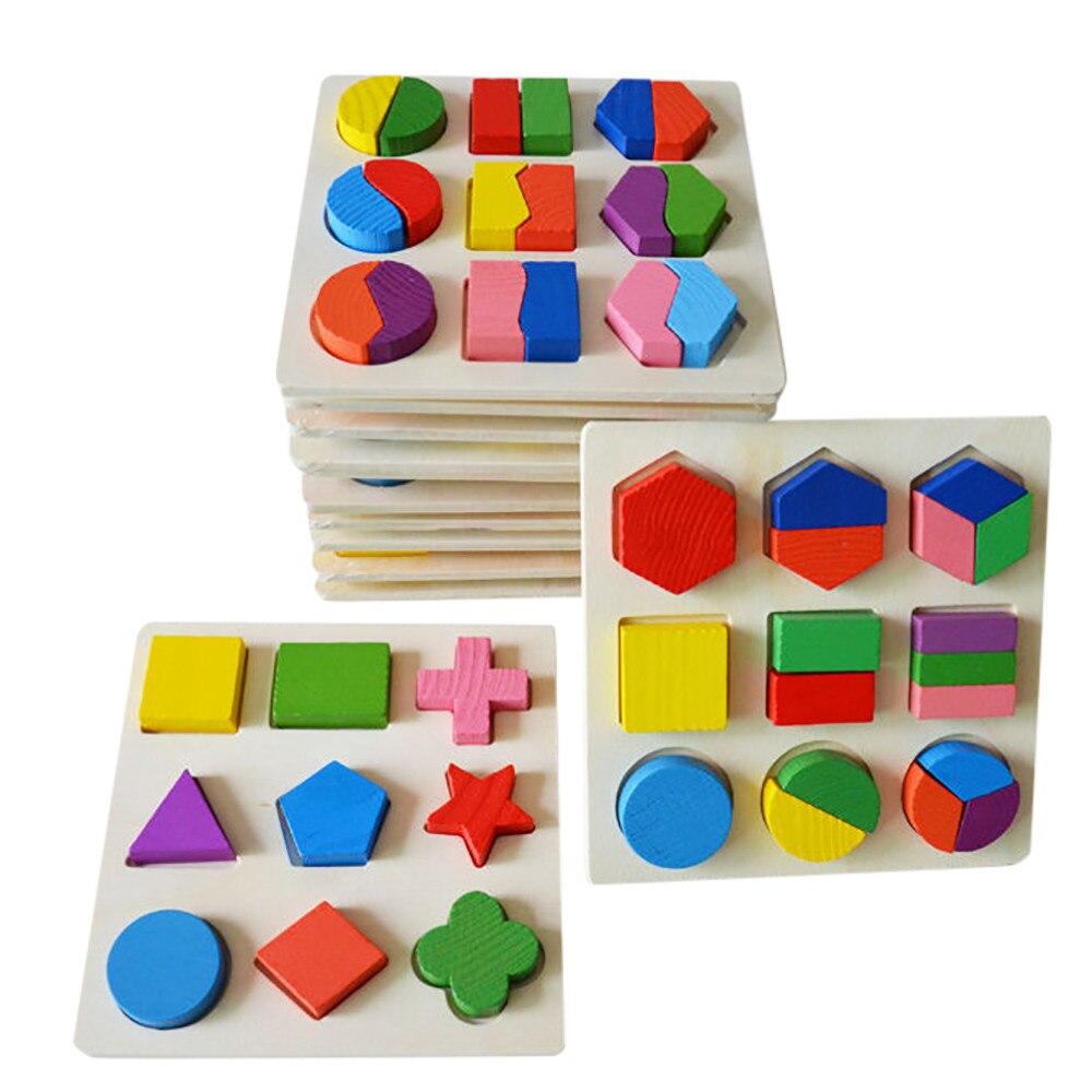 Dropshipping, juguetes educativos de madera Surwish, aprendizaje de geometría, método de construcción Montessori para niños y bebés YE11.29