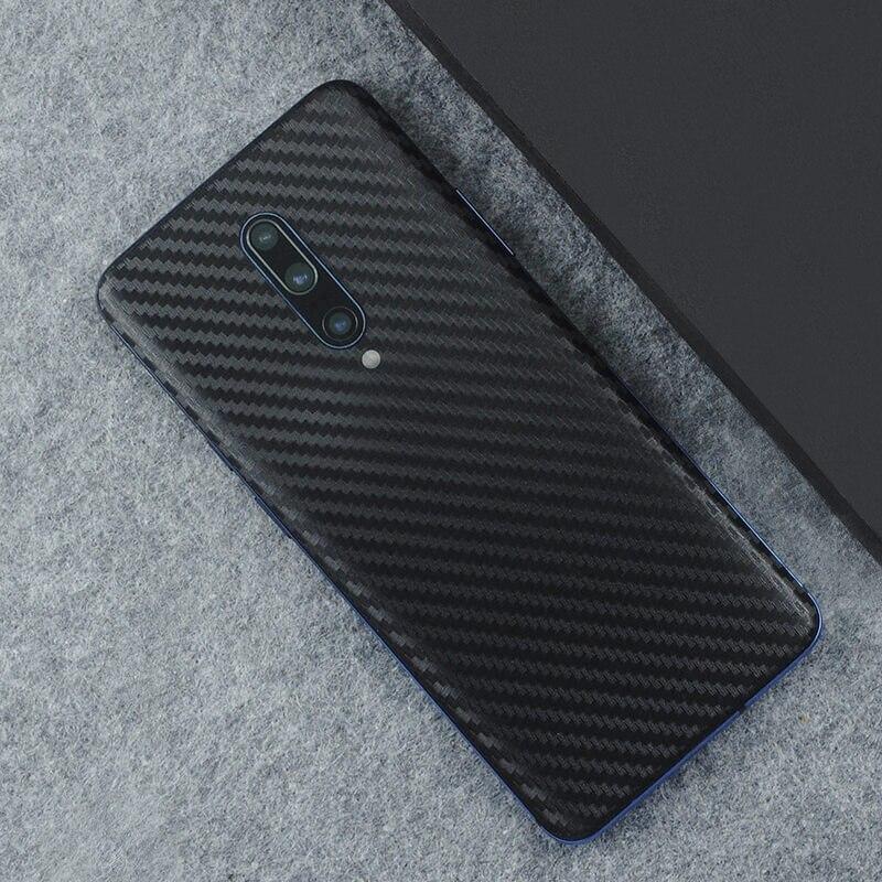 3D Carbon Fiber Skins Film Wrap Skin Phone Back Paste Sticker For OnePlus 7 Pro One Plus 7 1+6T 1+6 Pure Color Matte Film