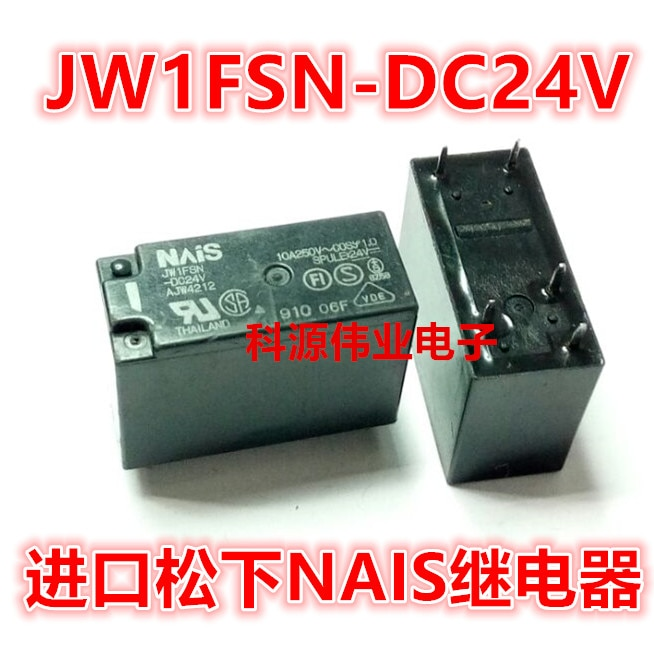 Relé de JW1FSN-DC24V AJW4212 10A/250VAC 24VDC 24V