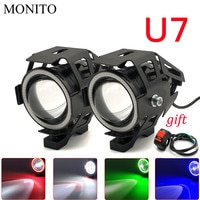 Motorcycle Headlight Angel Eyes Driving Head Lamp LED Waterproof Fog Light For YZF R25 R15 R6 R125 z750 Z800 FZ8 FZ1 FZ6R ER-6N