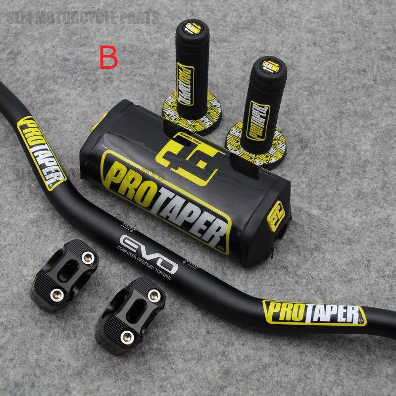 """Manillar para PRO Taper paquete Bar 1-1/8 """"de la barra de la manija de puños Pit Pro de suciedad Pit Bike de la motocicleta CNC 28mm"""