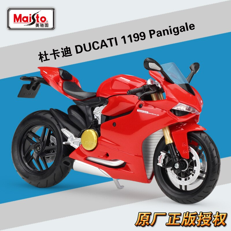 Maisto 112 DUCATI 1199 Panigale la fundición de Metal modelo carrera deportiva modelo motocicleta moto coleccionables