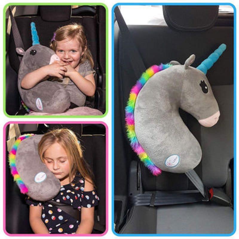 وسادة مقعد السيارة ، وسادة الكتف ، نمط وحيد القرن ، قطن PP ، غطاء حزام الأمان ، للأطفال ، ملحقات الحصان ، وسائد حزام الأمان