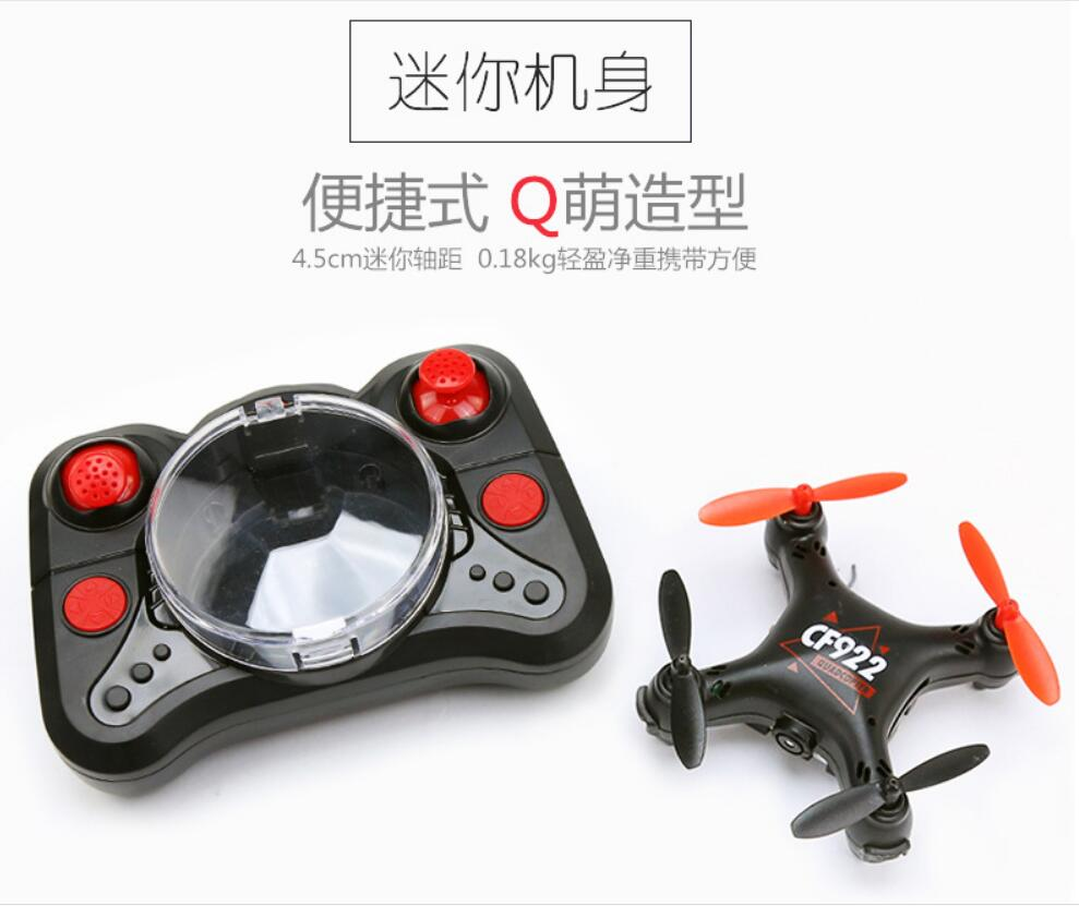 Mini Avión de cuatro ejes de Control remoto avión resistente a las caídas UAV alta definición aérea foto helicóptero niño juguete