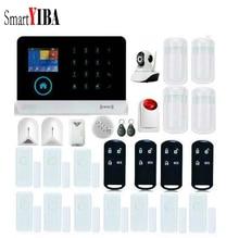 SmartYIBA Wireless Strobe Sirene Video IP Kamera Glasbruchsensor Gas-leck Alarm Kits Für GSM WIFI Sicherheit Alarm Sytem