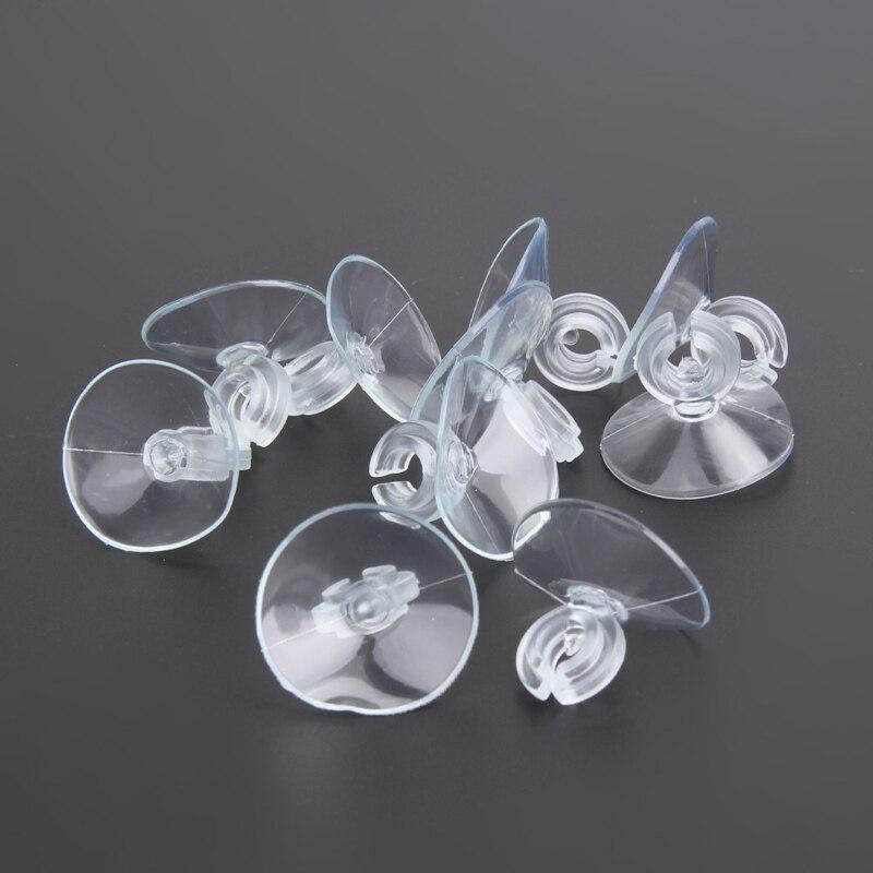 10 pcs Aquarium Otário Ventosa para 4 6mm Linha de Ar Da Tubulação Fio Titular Do Tubo Otário Claro para o Vidro 2.5*2 cm