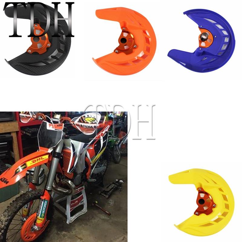 Moto X-freno de disco delantero cubierta guardia motocross Enduro Supermoto para Huaqvarna Husaberg TC FC TE FE KTM SX XC EXC 125 de 250