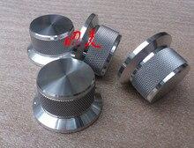 Diámetro 44mm, diámetro del vástago 34mm, alta aleación de aluminio 25mm rueda de volumen sólida amplificador de potencia de audio perilla de potenciómetro HIFI