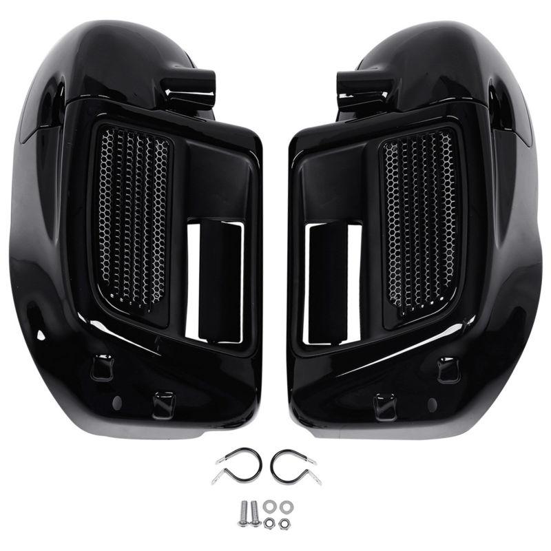 Motocicleta inferior ventilado perna carenagem caixa de luva para harley água-de refrigeração touring road king electra street glide 2014-2020