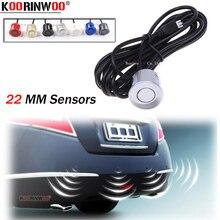 Koorinwoo capteurs de Parking   Parktronic de haute qualité, capteurs de 22MM, noir/argent/blanc/gris/or Champagne/bleu/rouge, aide pour Parking, 6 pièces/lot