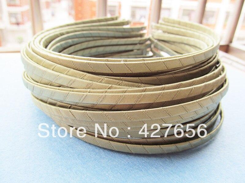 10 stücke 5mm metall stirnband/haarband gewickelt grasgrün band HB0002-gg