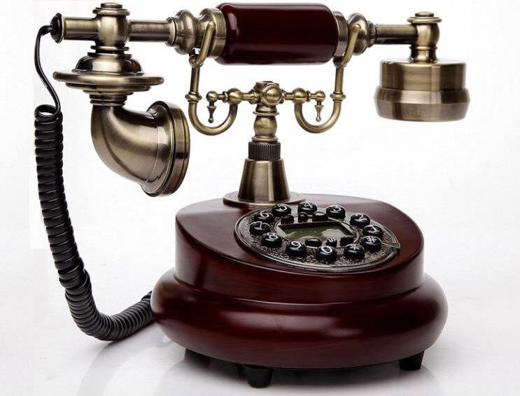 Eurple estilo de madera telefono fijo telefone fixo retro teléfono antiguo teléfono...