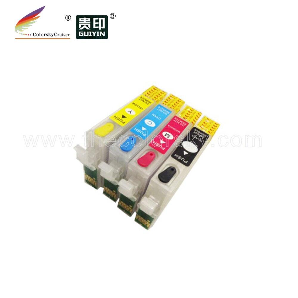 (RCE1291) cartouche dencre rechargeable pour Epson T1291 T1292 T1293 T1294 KCMY stylet SX230 SX235W SX420W
