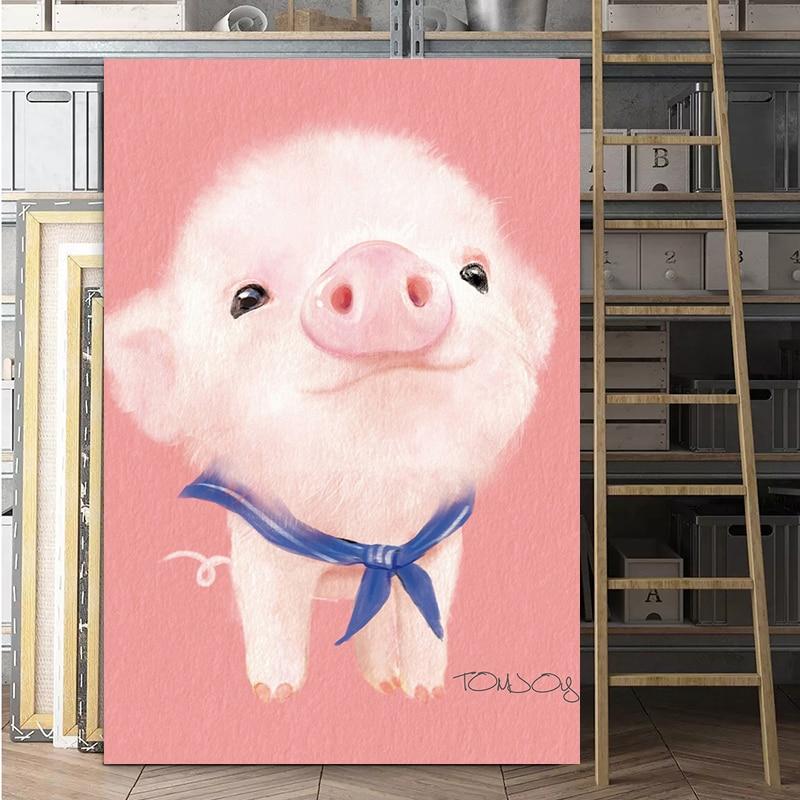 Arte confiable animales coloridos fotos sin marco pinturas al óleo cuadro de cartón impermeable Impresión de tinta pinturas decorativas