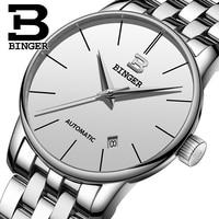 2018 New Switzerland BINGER Automatic Mens Watches Top Brand Luxury Men Mechanical Watch relogio masculino Stainless Steel Watch