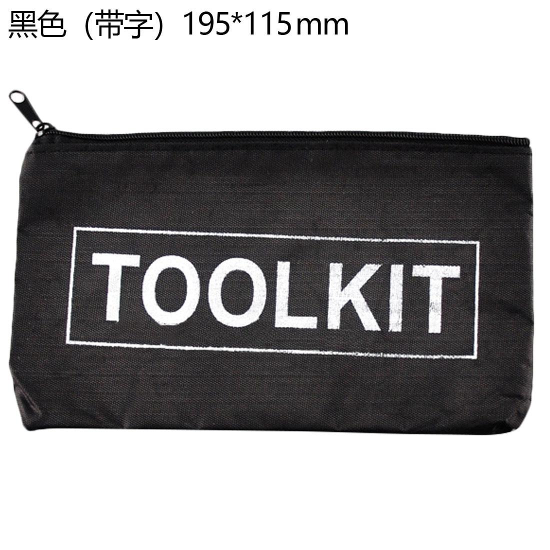 Portable Waterproof 600D Oxford Cloth Small Utility Tool Storage Bag Hand Tool Metal Parts Drill Bit Screws Nail Holder Tool Kit