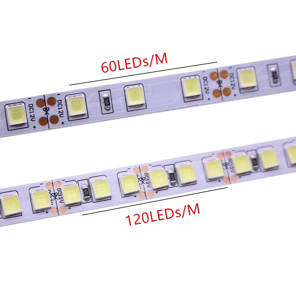 5 м 300/600 Светодиодная лента 5054 60led 120 LED/m подсвечиваемая Светодиодная лента 12V гибкий свет IP20 IP67 водонепроницаемая полоса белый/теплый белый