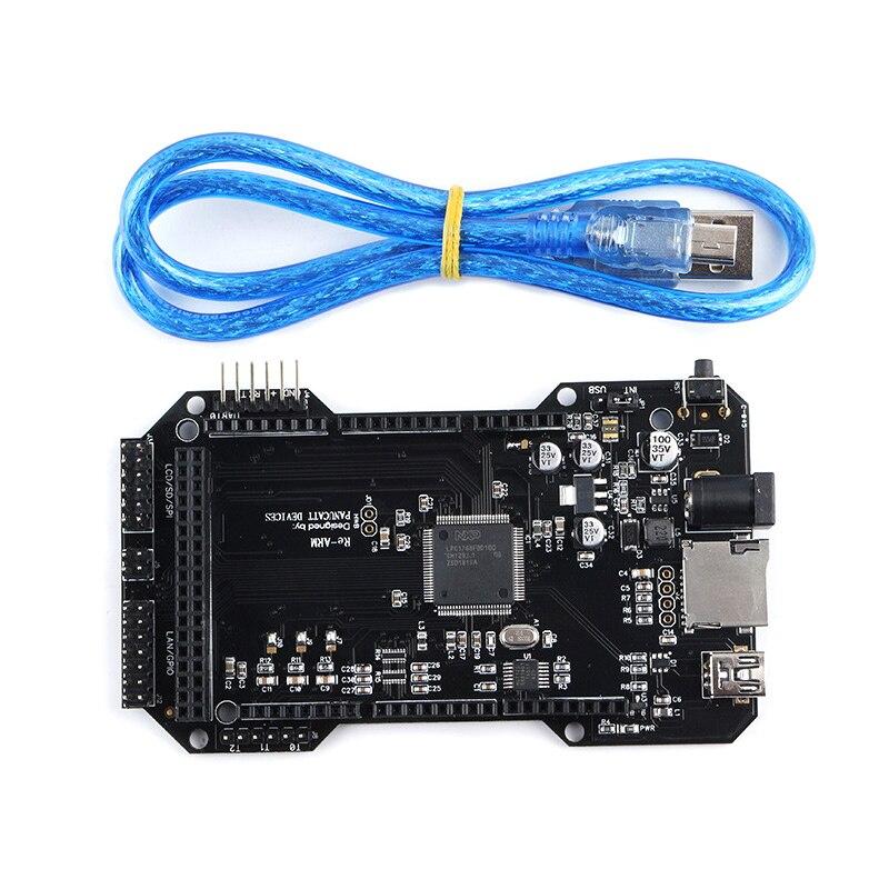 لوحة تحكم احترافية 32 بت ، ملحقات دعم للطابعة ثلاثية الأبعاد ، Mega 2560 R3 Ramps 1.4 1.5 1.6