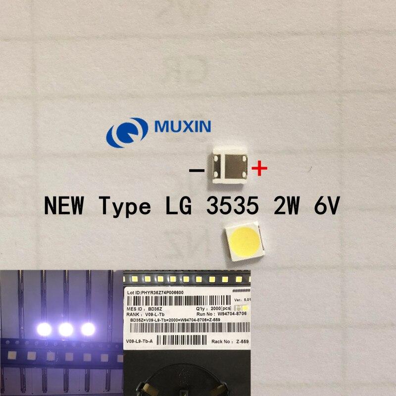 500pcs LG Innotek LED LED Backlight High Power LED 2W 6V 3535 Cool white LCD Backlight for TV TV Application LATWT391RZLZK
