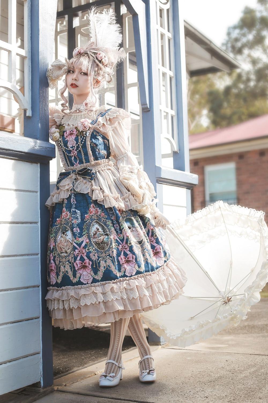 Lolita Dress Fairytale Town Dance Party Dress summer JSK lolita dress female cosplay lolita