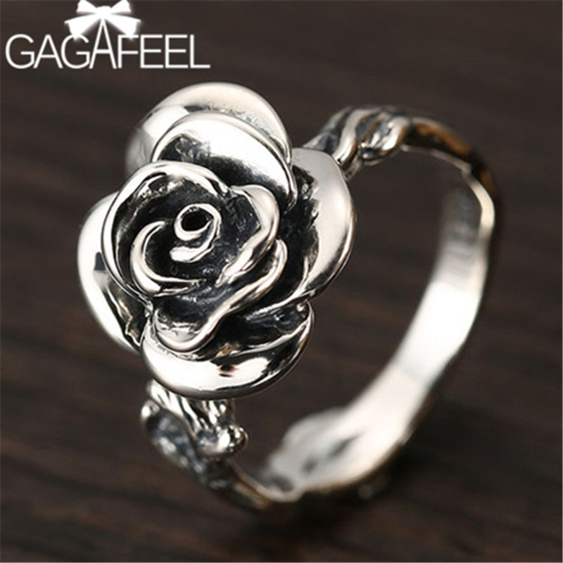 GAGAFEEL, anillos de Rosa Vintage, joyería de plata de ley 925 para mujer, moda de oficina, abalorios de mujer, regalos de fiesta para mujer, Dropshipping