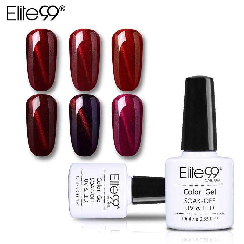 Elite99-esmalte de uñas para ojos de gato rojo vino, esmalte de uñas para manicura semipermanente, 3D LED UV, esmalte de uñas en Gel para ojos de gato, 10ml