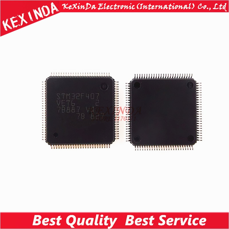 STM32F407VET6 STM32F407VE STM32F407 LQFP-100 2 шт./лот Бесплатная доставка