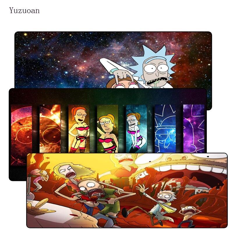 Yuzuoan 900*400*3MM divertido Anime gran bloqueo en los bordes Mousepad alfombrilla para jugar de goma ordenador alfombrilla de ratón para escritorio para láser óptico LOL DOTA pad