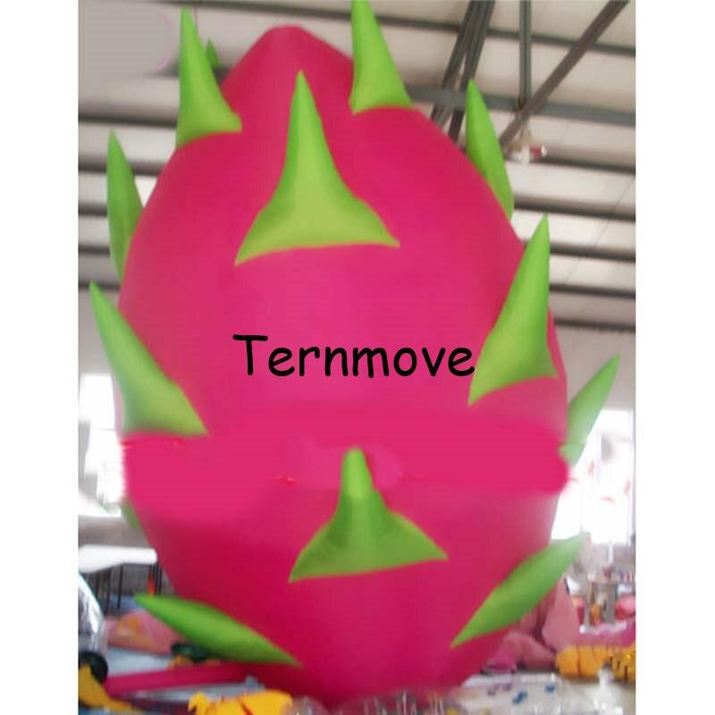 Pitaya inflable gigante, fruta inflable, fruta de dragón inflable, réplica de fruta inflable personalizada para publicidad