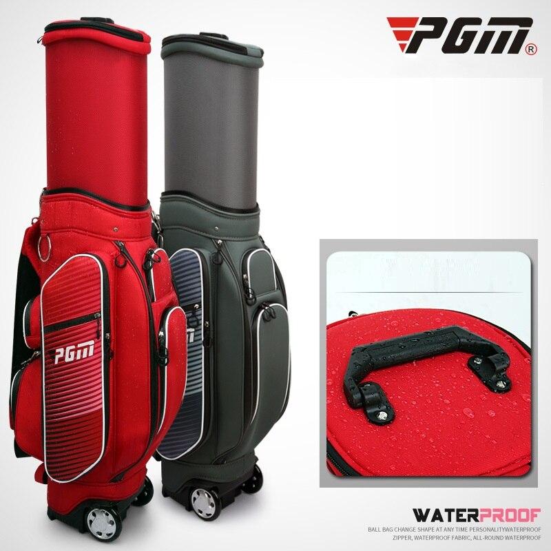 Ruedas de viaje de Golf a prueba de agua bolsas estándar soporte retráctil Caddy bolsa de juego de Golf completo bolsa de Nylon bolsa para carrito de Golf D0480