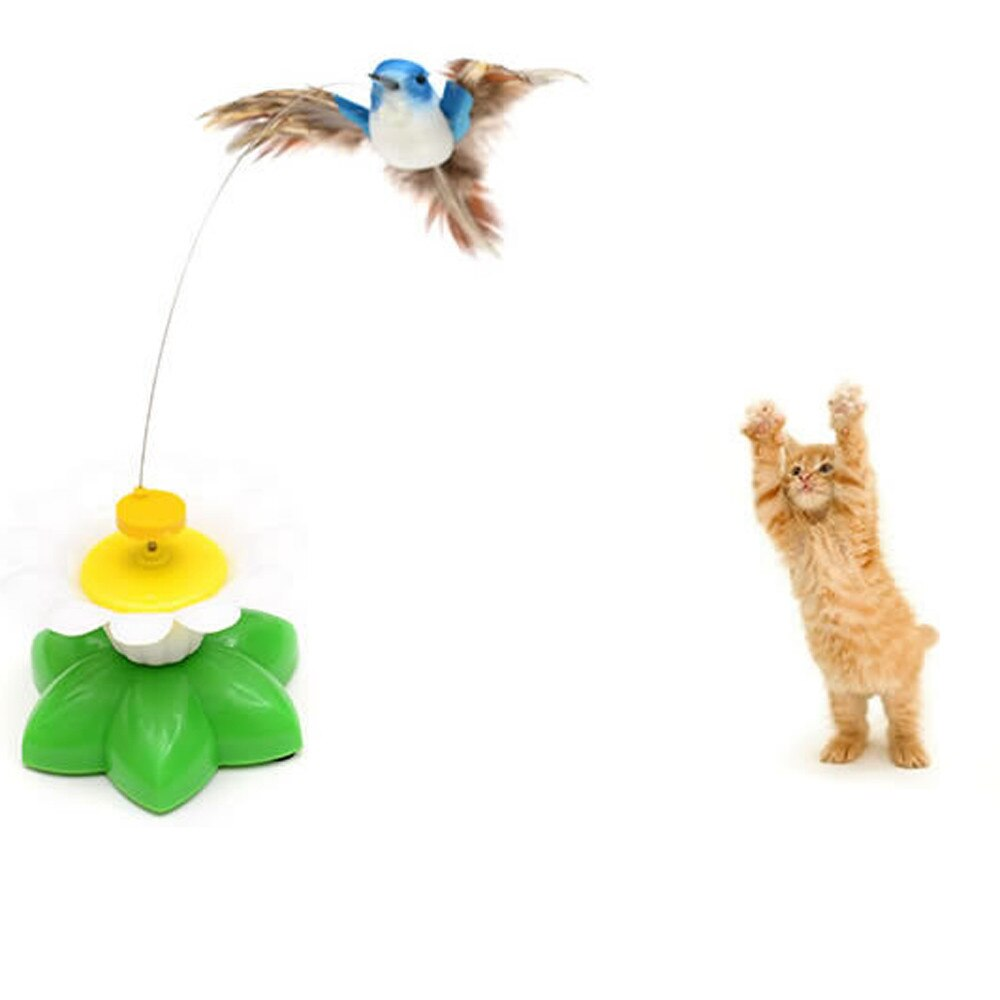 Electric Swivel Seat Birdie Funny Cat Pet Toy Cat Kitten Juguete Para Gatos Kattenspeelgoed Cat Toy Interactive Zabawka Dla Kota