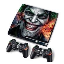 Joker peau de vinyle pour PS3 mince Console autocollant couverture pour PS3 Slim contrôleurs Controle Gamepad Mando décalcomanie