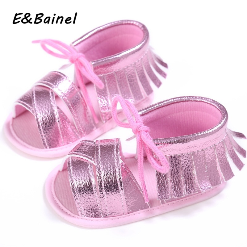 E&Bainel 2019 Baby Girl Summer Shoes PU Leather Toddler Newborn Baby Moccasins Shoes Tassel Soft Sol