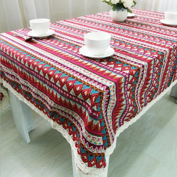 Nuevos manteles LYN & GY, mantel bohemio geométrico para comedor, Lino de algodón, varios tamaños, mantel decorativo de mesa, toalha