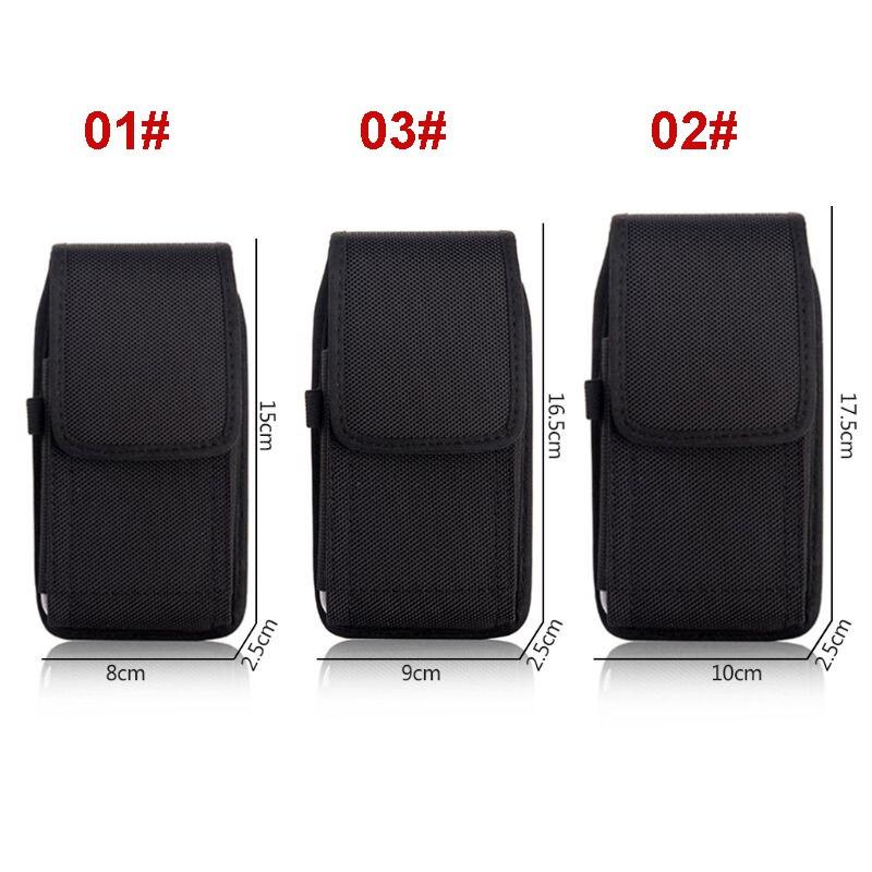 THINKTHENDO Phone Pouch Hanging Waist Storage Bag Fanny Pack Black Classic Belt Clip Pouch Case For