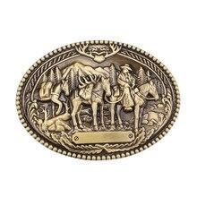 The western style Businessman cavalry belt buckle cowboy belt accessories
