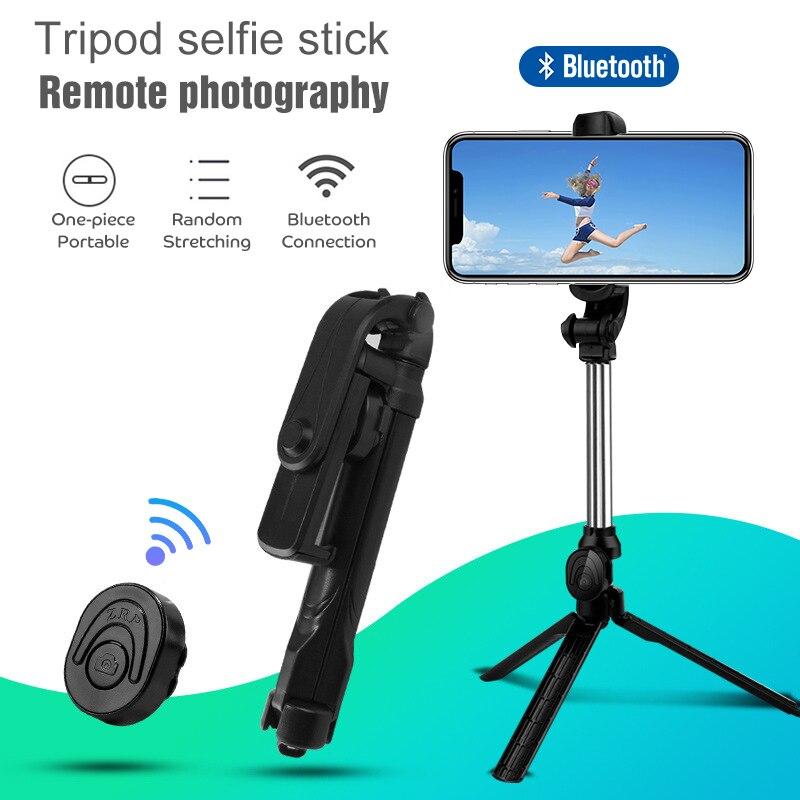 Teléfono Inteligente Bluetooth Selfie Stick Monopod trípode con botón de cámara trípode Selfie Stick para Samsung Huawei Honor iPhone 7 X