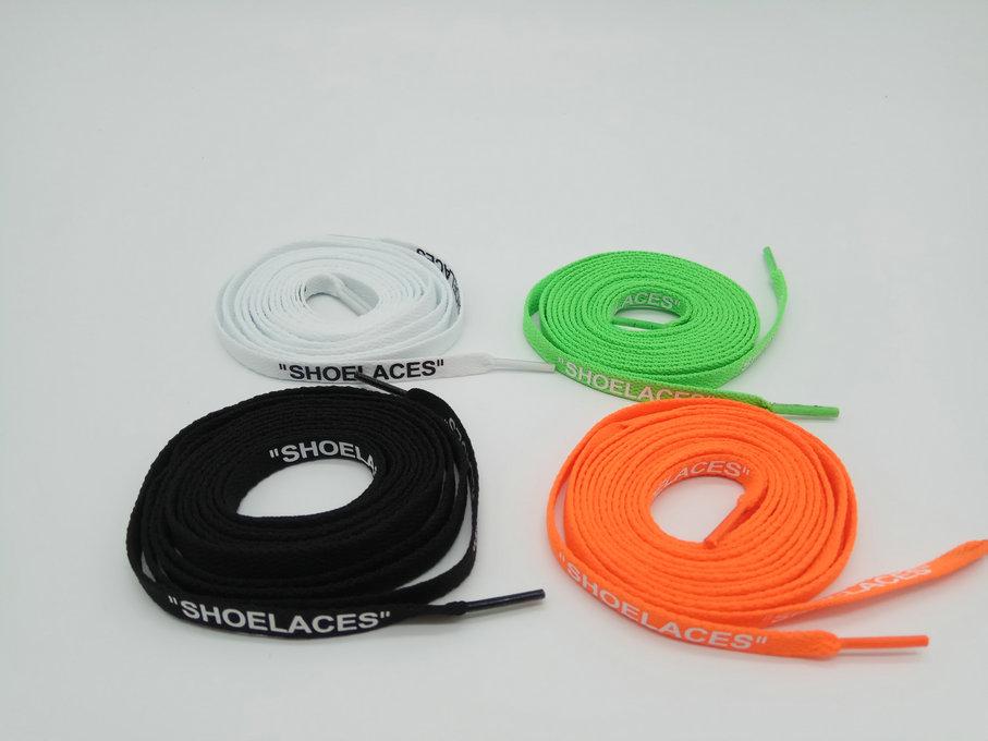 10 colors OW  print  shoelaces letter off white lace AF1 AJ1 sneakers lace SHOELACES accessories