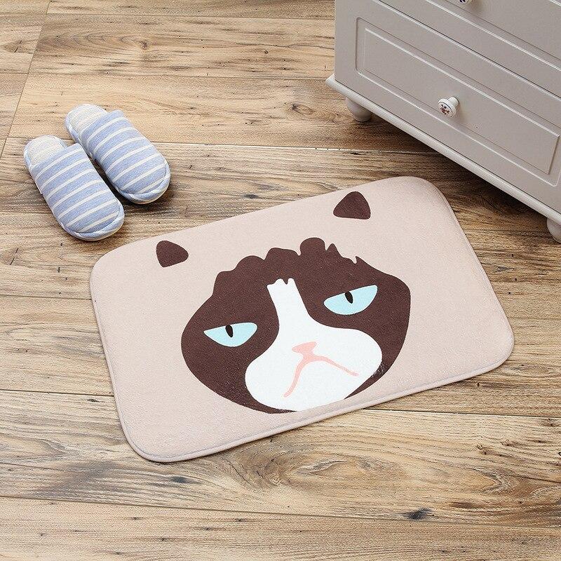Creative Cartoon Fashion Cute Novelty Animal Cat Dog Non-slip Warm Feet Cotton Absorbent Children Bath Mats Doormat Floor Rug FY