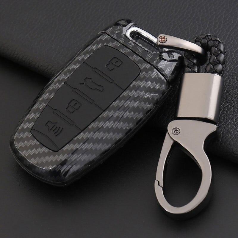 Fibra de carbono esportes versão chave caso chaveiro para great wall haval/pairar h6 h7 h4 h9 f5 f7 h2s carro-tampas
