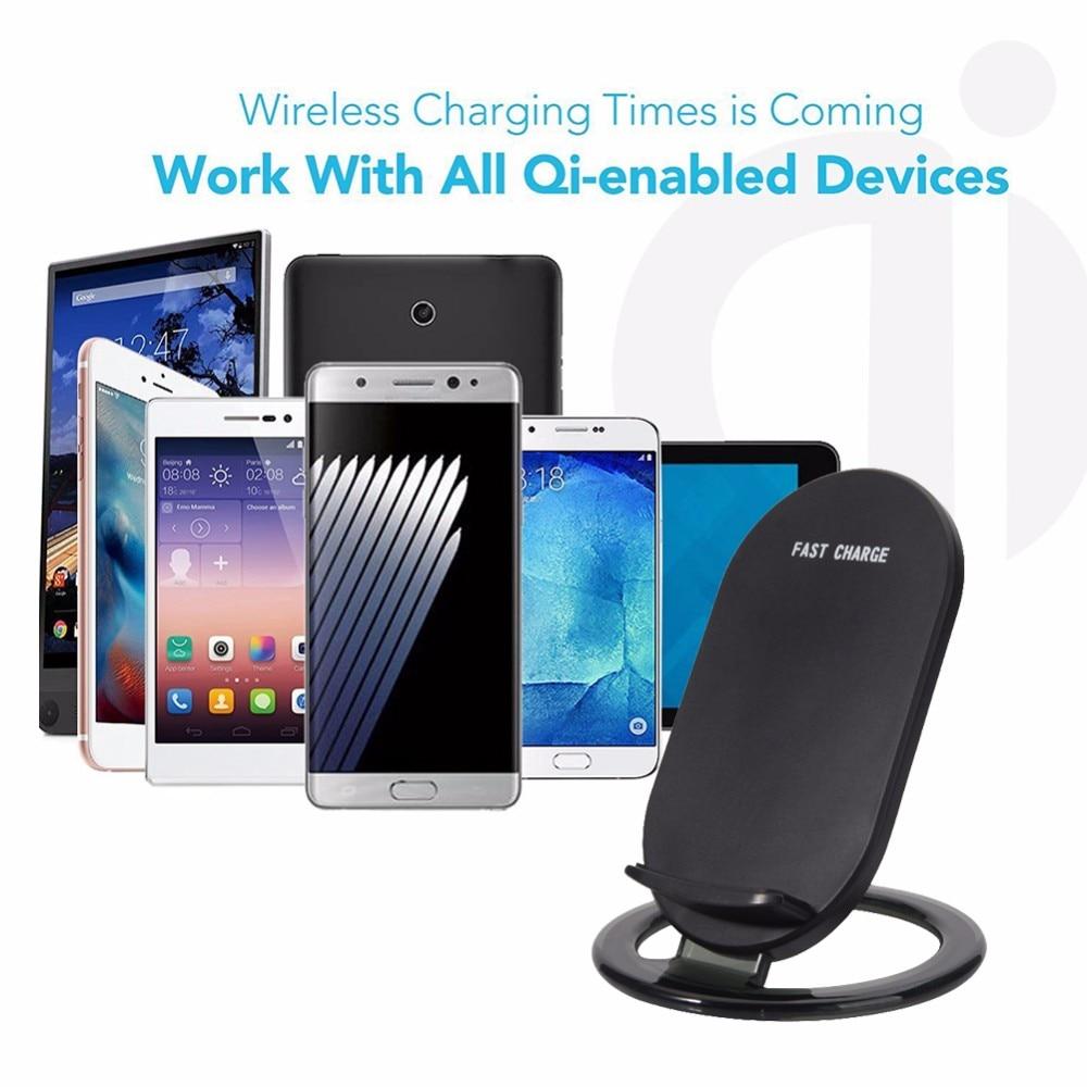 Doolike Qi cargador inalámbrico para iPhone X 8 plus cargador inalámbrico rápido para Samsung Galaxy Note 8 S8 S7 borde S6 Qi dispositivos