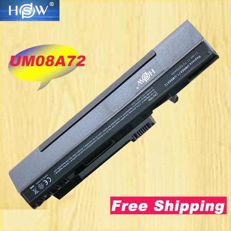 HSW Аккумулятор для ноутбука acer Aspire One A110 A150 ZG5 UM08A31 UM08A71 UM08A72 UM08A73 UM08B74 zg5 zg8 kav10 11,1 v 6 ячеек
