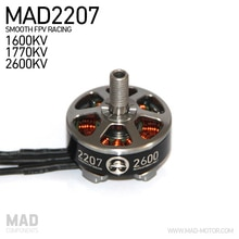 MAD2207 Mini Drone Motor sin escobillas de alta eficiencia suave FPV Racing 1600KV 1770KV 2600KV para QAV250 210 220 envío gratis