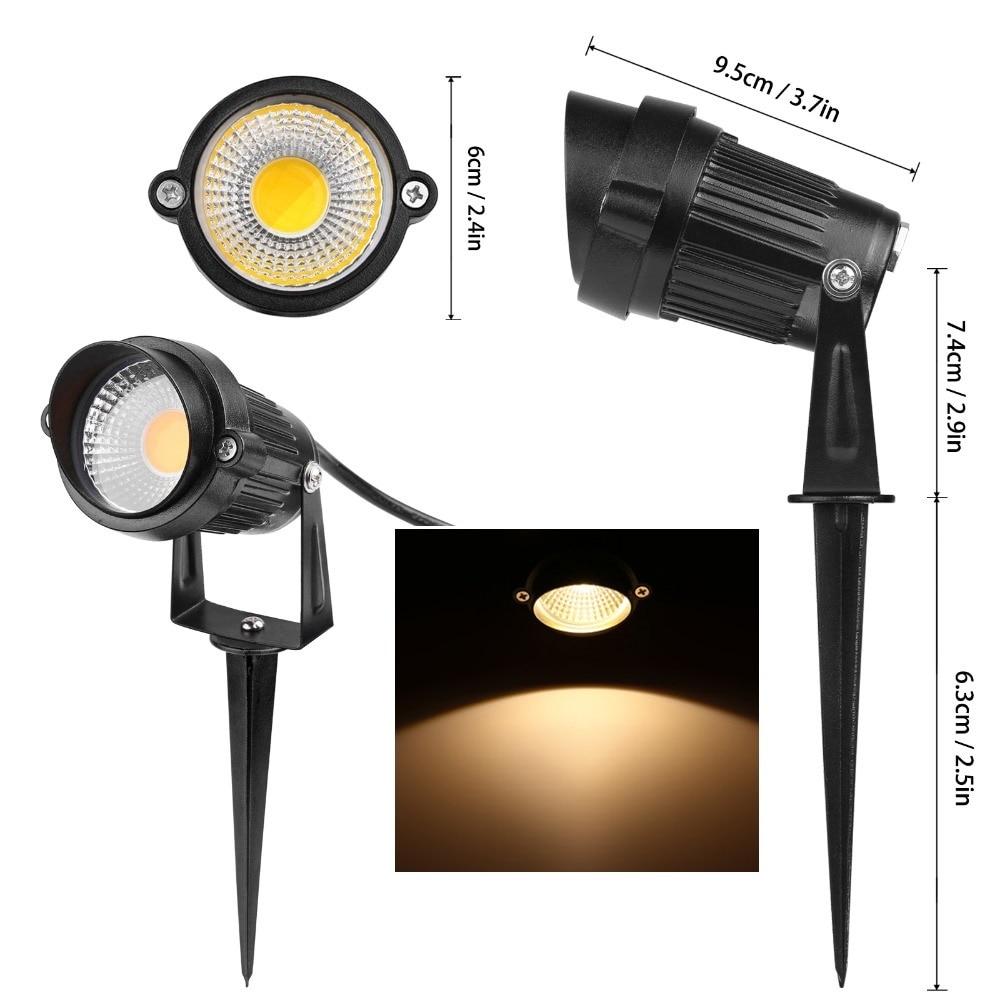 10Pcs/lot New Cap LED Garden Light 3W 5W 7W 10W COB 12V 110V 220V Waterproof Led Spike Light Lawn Lamps Outdoor Garden Lighting enlarge