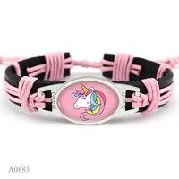 Hot Sale Friendship Best Friends Girls Gift Dainty Unicorn Leather Wrap Men Bracelets for Women