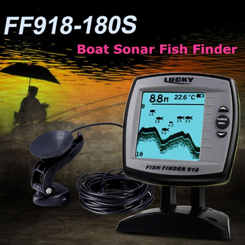 Sonar Alarm Fish Finder  FF918-180S wired Echo fish finder Sounder Lure Findfish Boat Alarm sensor Fishfinder Ice Fishing Lures enlarge